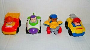 4 Fisher Price Little People Wheelies Racers Race Track replacement cars Lot 3