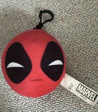 Marvel Deadpool Face Soft  Plush  Keychain-Keyring