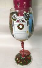 Lolita 15 oz Wine Glass - Christmas- The Wine Collection, Home For the Holidays