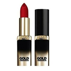 L'Oreal Paris Color Riche Gold Obsession Lipstick Protect Lips Rouge Gold
