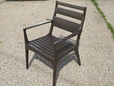 Pair of Frontgate Aluminum Outdoor Patio Dining Chairs FG 63417A Bronze