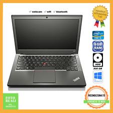 Notebook Lenovo ThinkPad X240 i5 Ram 8GB HDD 500GB Windows 10 Pro Ricondizionato