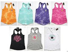 Ärmellose Damen-T-Shirts mit Rundhals-Ausschnitt ohne Muster