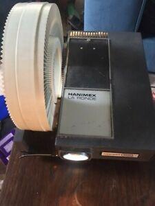 Hanimex 35mm Colour Slide Projector La Ronde 1200S - Vintage - Working + Slides