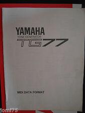 YAMAHA tone generator TG-77 original MIDI DATA FORMAT Book control change OOOOOO