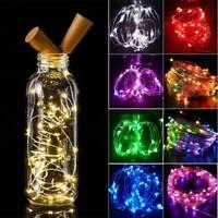 Wine Bottle Fairy String Lights 20 LED Battery Cork For Party Christmas Wedding