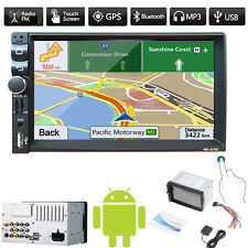 "7"" 2 DIN Bluetooth Car Stereo MP3 MP5 Player Android 4.4 GPS Nav TF USB FM Radio"