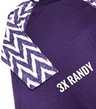 Lularoe 3XLarge Randy ( Purple Body, Chevron Sleeves )