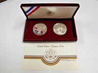 1983-1984 United States Olympic Coins- Two Coin Set -COA