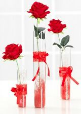 Ritzenhoff & Breker Red Rose Tall Artificial Rose Flower Acrylic Vase 40cm