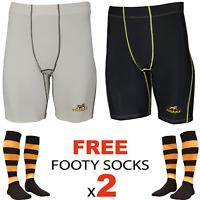Tigers Compression Tights Football Shorts Mens Youth Skins + Richmond Socks