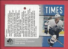 2001 SP Authentic Hockey Daniel Sedin Sign of the Times Autograph Card