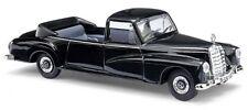 BUSCH 44807 H0 1:87 Mercedes-Benz 300, noirs Voiture état