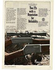 1978 BROWNING 22 Autoloader, BL-22 Cal Rifles VTG PRINT AD