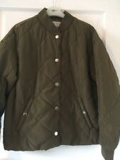 H&M Logg Ladies Khaki Green Padded Jacket Size 14