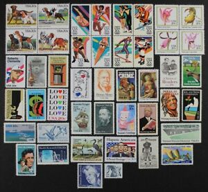 US 1984 USA Commemorative collection, Year Set, made up of 45 stamps Mint NH