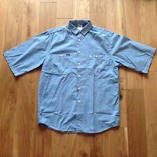Lee 'Mike' Luz Denim trabajador Estilo Camisa BNWOT