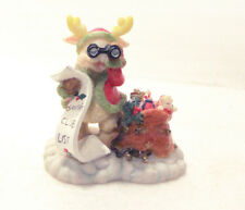 Reindeer with Binoculars Delivering Toys Christmas Figure Adorable Antics