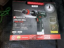 Parkside 2 in 1 Cordless Drill Driver 12V batteries(2X 4Ah ) &Charger.