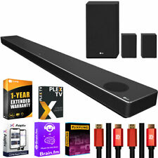 LG SN11RG 7.1.4 ch Dolby Atmos Soundbar with 1-Year Extended Warranty Bundle