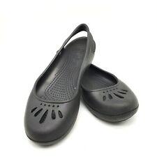Crocs Malindi Woman 7 Black Sling Back Ballet Mary Jane Slip-Ons