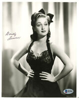 DOROTHY LAMOUR SIGNED AUTOGRAPHED 8x10 PHOTO BOB HOPE ROAD TO MOVIES BECKETT BAS