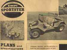 Vintage 1963 Empi Sportster Plans & Specifications Digital CD Copy VW Dune Buggy