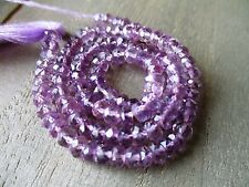 Lavender Amethyst faceted rondelle- 5mm- 7 inch