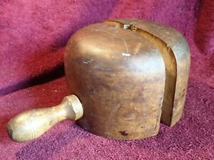 1800 / early 1900  ANTIQUE HANDMADE WOODEN HAT MOLD BLOCK EUROPEAN