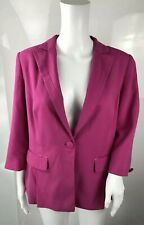 Per Una Marks & Spencer 14 Hot Magenta Pink Blazer Suit Jacket Pleated Tail M&S
