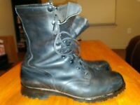 Men's Leather Military Boots Size 10.5 Wide