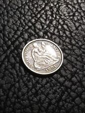 1891 LIBERTY SEATED DIME - AU details w/toning - Last Year!   INV#5253