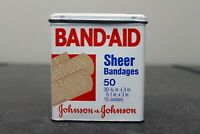 Vintage Johnson & Johnson Sheer Band-Aid Tin - Empty and in Good Condition!