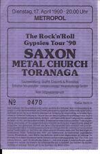 SAXON & Metal Church & Toranaga  Used Ticket Berlin 17.04.1990