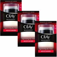 3 Olay Regenerist Regenerating Moisturiser Anti-Ageing Day Cream Hydrating 50ml