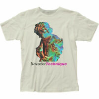New Order Technique T Shirt Mens Licensed Rock N Roll Band Retro Vintage White