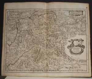 SAVOY FRANCE & ITALY1646 MATTHÄUS MERIAN UNUSUAL ANTIQUE COPPER ENGRAVED MAP