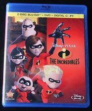 The Incredibles Blu-ray/Dvd, 2011 3-Disc Set Disney Family Children Kids Movie