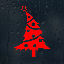 Red Merry Christmas Tree Car Decal Vinyl Sticker For Window Wall Bumper Panel