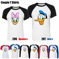 Disney Donald Daisy Duck Design Couples T-Shirt Men's Women's Graphic Tee Tops