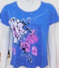 ELLEN TRACY LADIES screen print dolman top/tee shirt 4 sizes 4 colours BNWT