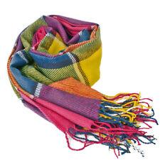 Women Ladies Pashmina Scarf Winter Warm Tartan Check Neck Shawl Wrap Stole Plaid
