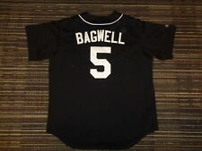 AUTHENTIC SEWN JEFF BAGWELL #5 HOUSTON ASTROS MAJESTIC BLACK MLB BASEBALL JERSEY