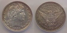 1904 O Barber Quarter ANACS Certified AU 50 Details Cleaned Almost Uncirculated