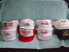 Lot of 8 vintage collectible advertising hats Winston, Snoopy, Nabisco and more