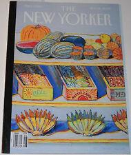 New Yorker Magazine November 24 2008 Harvest Display by Wayne Thiebaud