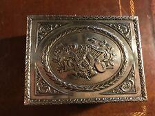 Antique Silver Plate Box w/ Musical Motif