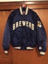 MLB Starter Diamond Collection Milwaukee Brewers Satin Jacket Large Baseball