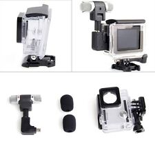 Side Open Skeleton Housing Case + Adapter Kit + Microphone for GoPro Hero 4 3+ 3