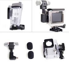 Side Open Skeleton Housing Case + Adapter Kit + Microphone for GoPro Hero 4 3+ 3